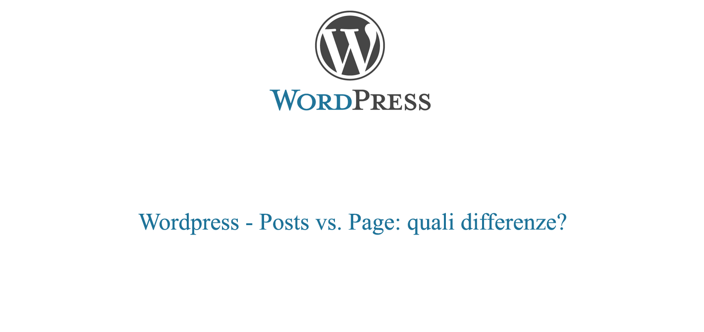 Posts vs. page