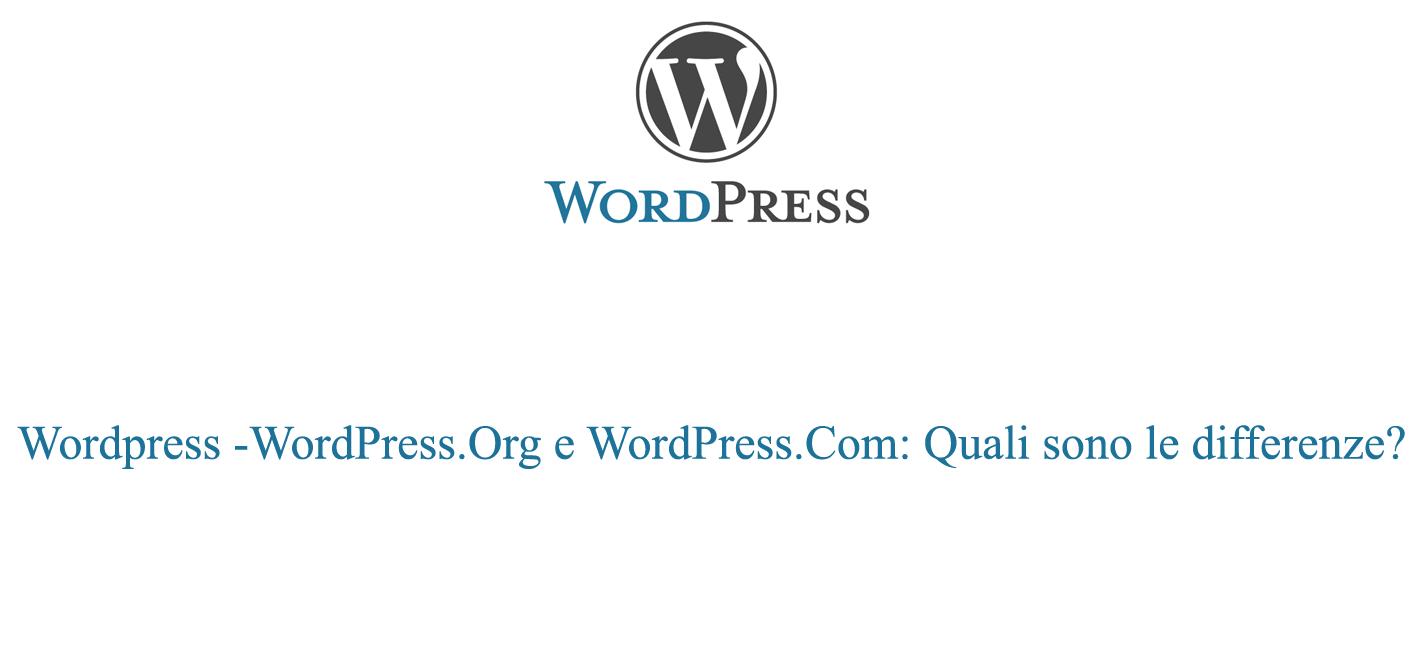 Wordpress org e com