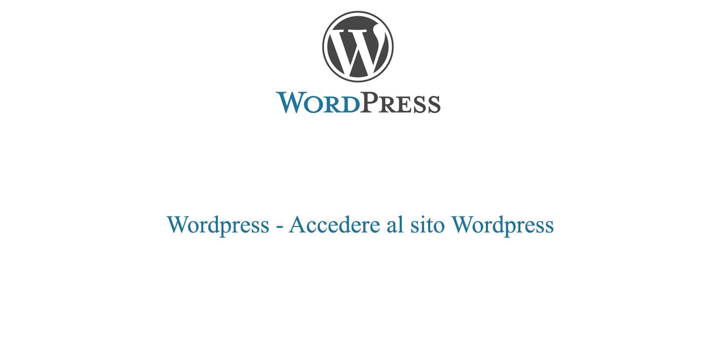 Accedere al sito Wordpress
