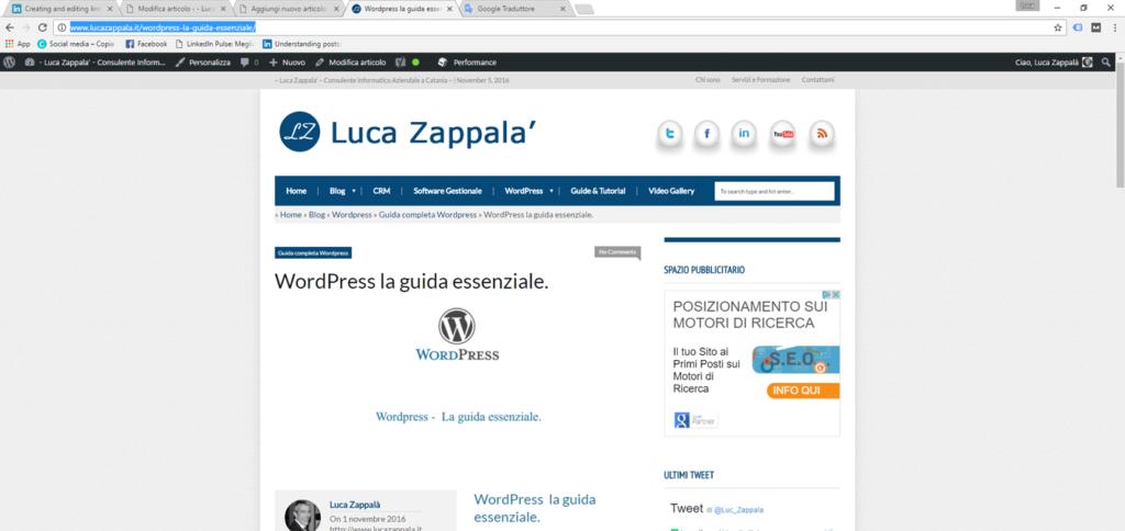 Inserire un link in WordPress - Figura 1