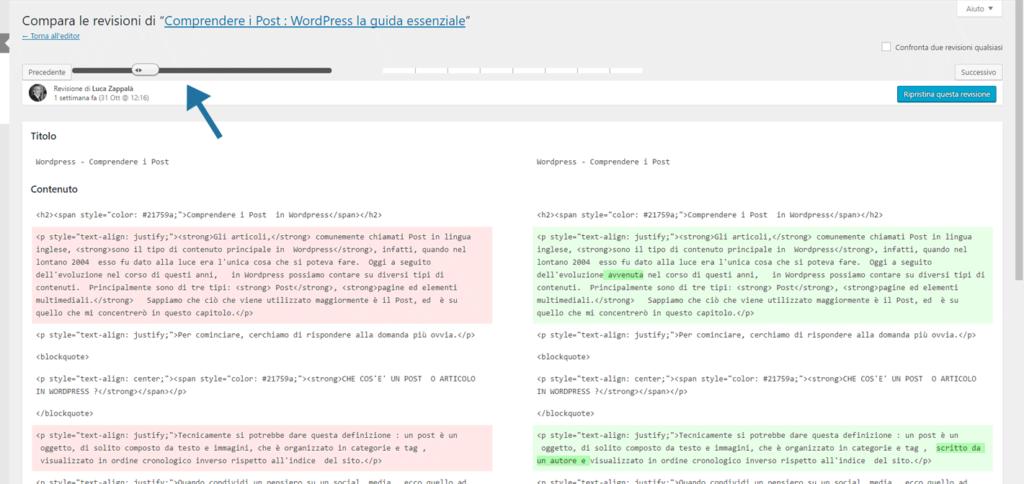 Revisioni WordPress figura 2